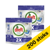 Dreft Aanbieding: 2x Dreft All-in-One Regular vaatwastabletten (100 stuks)  SDR00337