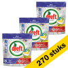 Dreft Aanbieding: 3x Dreft All-in-One Platinum Lemon vaatwastabletten (90 stuks)  SDR00333