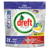Dreft All-in-One Platinum vaatwastabletten Lemon (90 stuks)