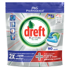Dreft All-in-One Platinum vaatwastabletten Regular (90 stuks)