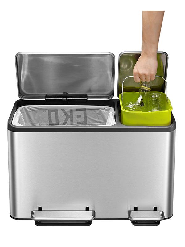 Eko Rejoice Pedaalemmer 30 30 Liter.Duo Afvalemmer Afvalbakken Keuken Schoonmaken 123schoon Nl